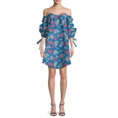 ファースト サイト レディース ワンピース Off-The-Shoulder Cotton Dress