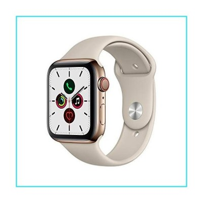 Apple Watch Series 5 (GPS?+?Cellular, 44mm) - Gold Stainless Steel Case with Stone Sport Band【並行輸入品】