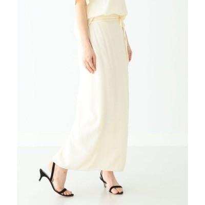スカート Demi-Luxe BEAMS / 楊柳 ロングスカート