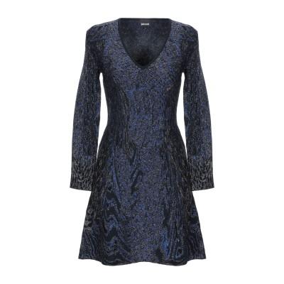 ジャストカヴァリ JUST CAVALLI ミニワンピース&ドレス ブルー L レーヨン 68% / ポリエステル 25% / ナイロン 7% ミニ