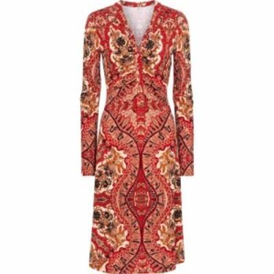 エトロ Etro レディース ワンピース ミドル丈 ワンピース・ドレス paisley crepe midi dress Rosso
