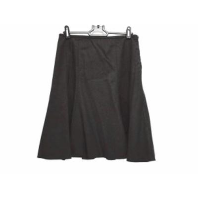 アルマーニコレッツォーニ ARMANICOLLEZIONI スカート サイズ36 S レディース ダークブラウン【中古】20191214