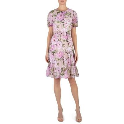 ジュリア ジョーダン レディース ワンピース トップス Short Sleeve Floral Printed Dress BLUSH MULTI