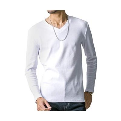 FTELA(フテラ) メンズ シャツ カットソー Tシャツ ロンTクルーネック 丸首 Vネック 長袖 7分袖 半袖 無地 シンプ