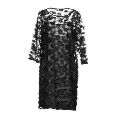 EMME by MARELLA ミニワンピース&ドレス ブラック 44 ポリエステル 100% ミニワンピース&ドレス