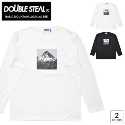 DOUBLE STEAL ダブルスティール ロンT BASIC MOUNTAIN LOGO L/S T-SHIRT TEE Tシャツ 長袖 カットソー トップス 905-14089 単品購入の場合はネコポス便発送