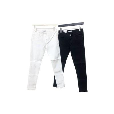 Ladies ダメ−ジ ビンテージ スリム スキニー ロング パンツ pants