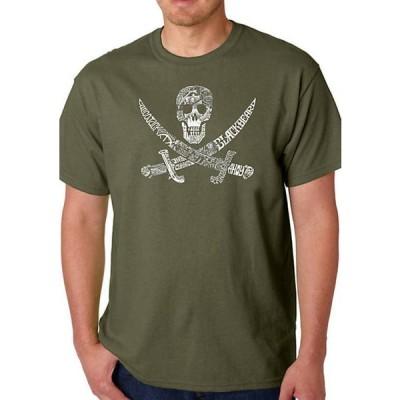 エルエーポップアート メンズ Tシャツ トップス Word Art Graphic T-Shirt - Pirate, Captains, and Imagery