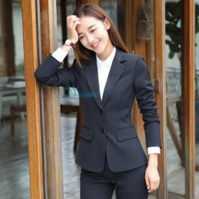 スーツ スカート ロングパンツ セットアップ ブラック レディース 通勤 正式 仕事 ネイビー 二つボタン ビジネス フォーマル