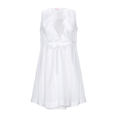 ジャンバ GIAMBA ミニワンピース&ドレス ホワイト S コットン 98% / ポリウレタン 2% ミニワンピース&ドレス