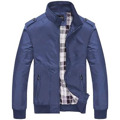 アウター ジャケット コート 上着 メンズファッション ファッションメンズ 大きいサイズ 薄手 厚手 防寒 軽量(ネイビー, XL)