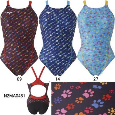 (ネコポス可)ミズノ(MIZUNO)女児用トレーニング水着 エクサスーツ ジュニアミディアムカット N2MA0481