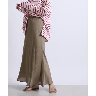 テンセル麻スカート