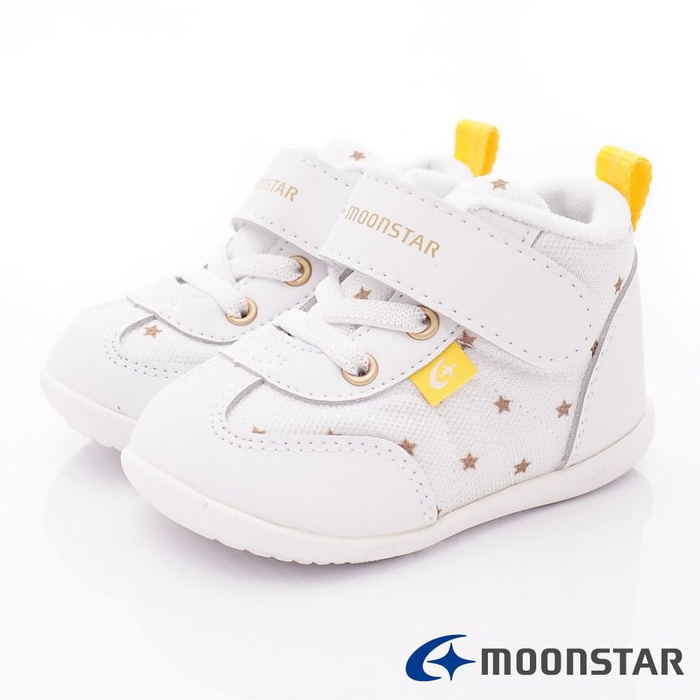 日本月星Moonstar機能童鞋 輕量2E護踝學步款1891白(寶寶段)