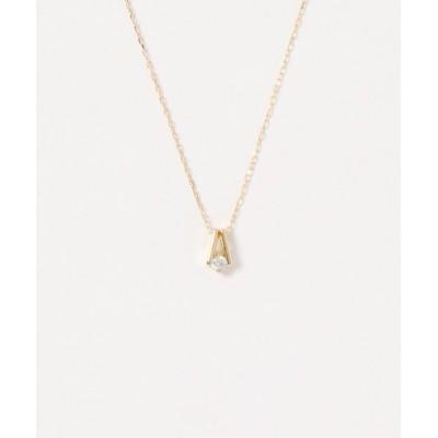 con affetto / K18/ダイヤ デザインネックレス WOMEN アクセサリー > ネックレス