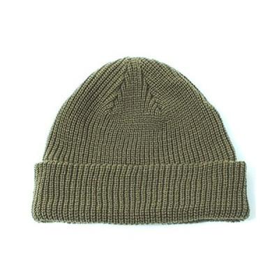 BASIQUENTI [ ベーシックエンチ ] ニット帽 レディース メンズ (ローワッチ/浅め) ニット帽子 オリーブ 男女兼用
