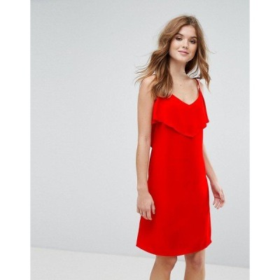 ラバンド レディース ワンピース トップス Lavand Cami Dress With Frill Overlay Red