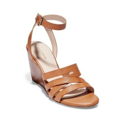 コールハーン レディース サンダル シューズ Marietta Ankle Strap Wedge Sandal PECAN LEAT