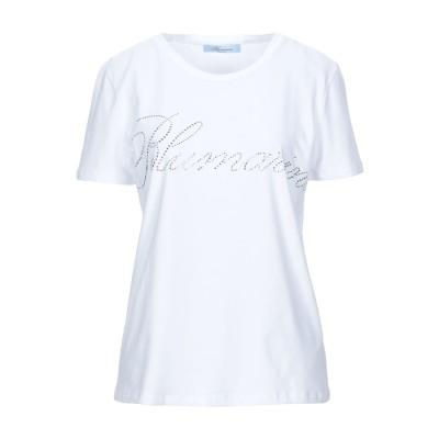 ブルマリン BLUMARINE T シャツ ホワイト 46 コットン 96% / ポリウレタン 4% T シャツ