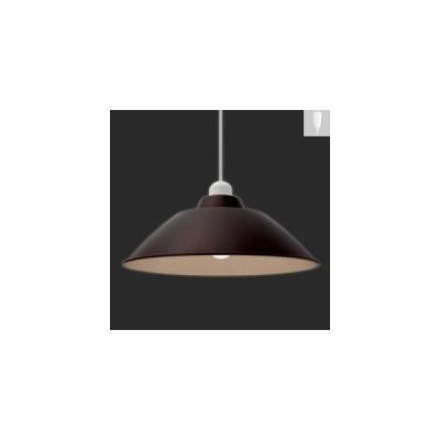 アイリスオーヤマ LEDペンダントライト Gammel Plas M 一般電球60W形相当 電球色相当 E26口金 引掛シーリング取付式 ブラウン PL8L-E26PE1-T