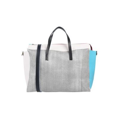 EBARRITO ハンドバッグ スカイブルー 革 ハンドバッグ