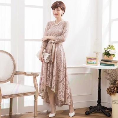 パーティードレス 結婚式 ワンピース 大きいサイズ有 二次会 rose ドレス 20代 30代 パーティドレス ロング ミモレ丈 エレガント