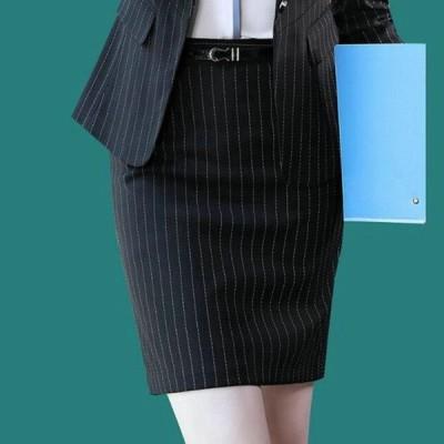 大人気 スーツスカート レディース オフィス ペンシル タイト ストライプ バックスリット 事務服 Aラインスカート 女性 OL 通勤 ビジネス フォーマル