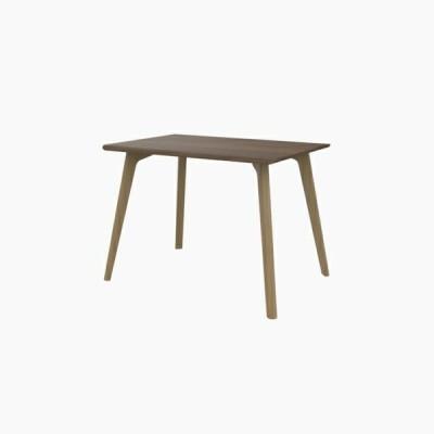 送料無料 ダイニングテーブル (W1000 天板:ウォールナット 脚:ピーチ) - CROSS