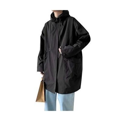 Jearey メンズコート トレンチコート ジャケット 2020新品 ロング カジュアル ビジネス 兼用 秋冬 春 防寒 フード付き ファッ