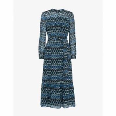 ホイッスルズ WHISTLES レディース ワンピース ちりめん クレープ ワンピース・ドレス Ikat-Print Crepe Midi Dress MULTI COLOURED