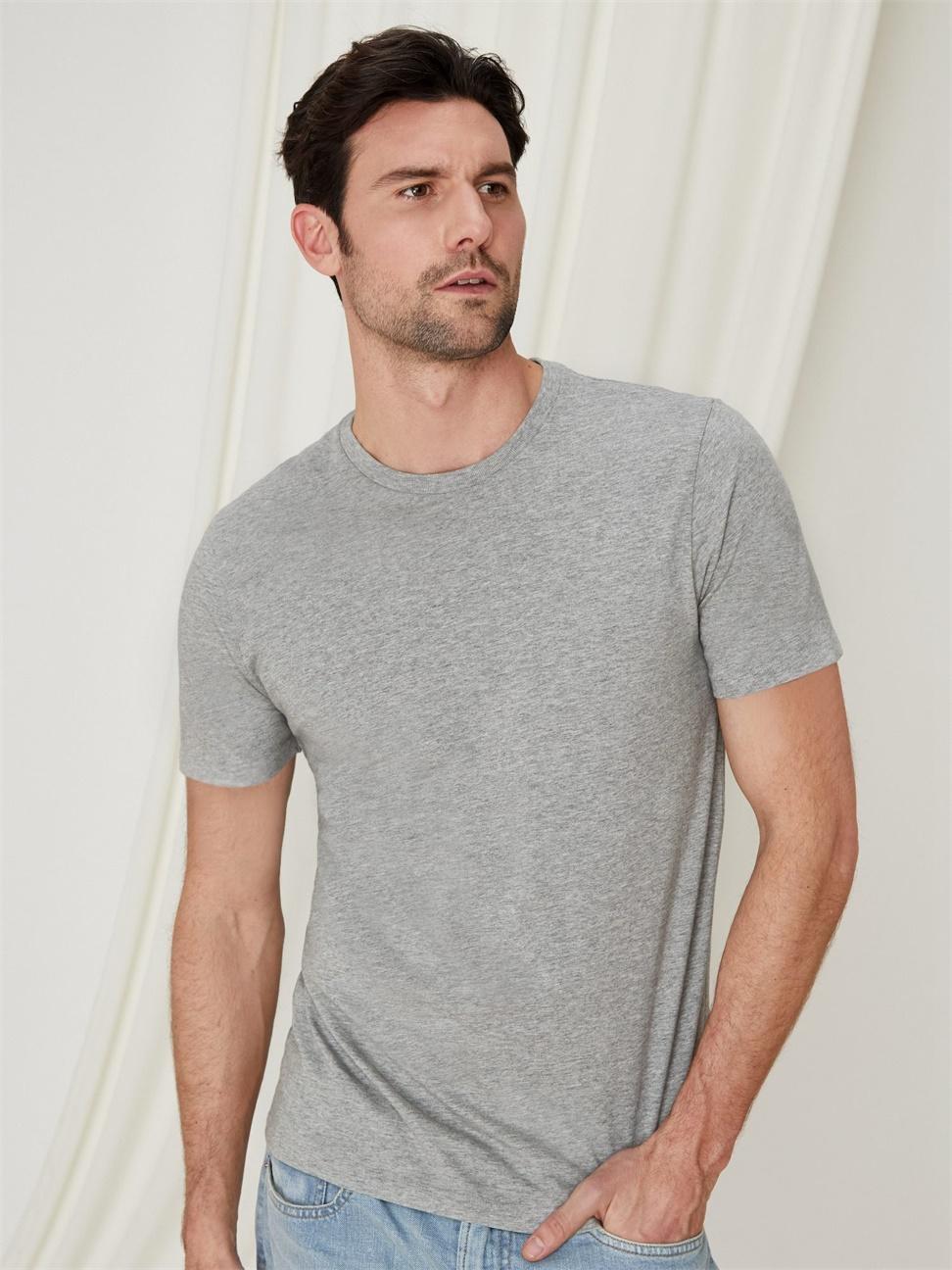 男裝 休閒直筒圓領短袖T恤