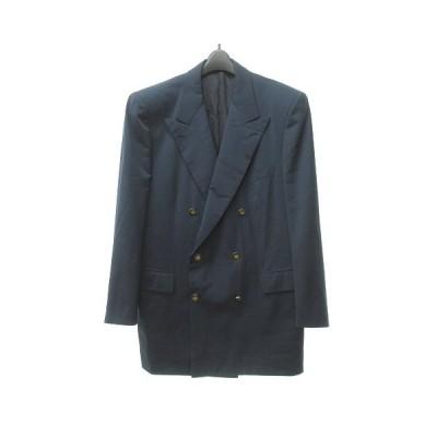 【中古】ブリオーニ BRIONI ARAMIS ダブル テーラード ジャケット ブレザー 紺ブレ 金ボタン イタリア製 52/42 C 0617 STK  【ベクトル 古着】