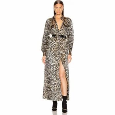 ガニー Ganni レディース ワンピース ワンピース・ドレス silk stretch satin dress Leopard