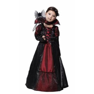 【ヴァンパイアの女王 キッズ】吸血鬼 仮装 バンパイア ハロウィン halloween ワインレッド  子ども用