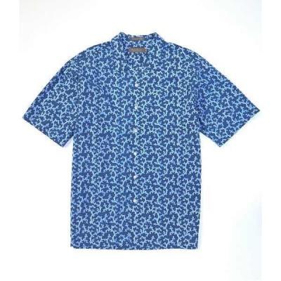 クレミュ メンズ シャツ トップス Daniel Cremieux Signature Printed Light Indigo Short-Sleeve Woven Camp Shirt Light Indigo
