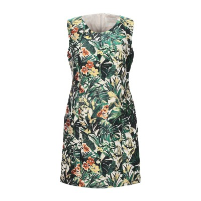BOTTEGA MARTINESE ミニワンピース&ドレス グリーン 40 ポリエステル 100% ミニワンピース&ドレス