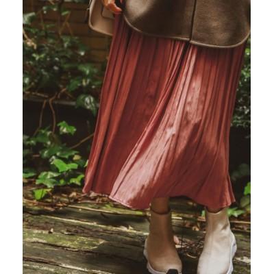 スカート プリーツロングスカート