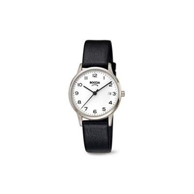 Boccia Women's Quartz Watch with Leather Strap, Black, 16 (Model: 3310-01) 並行輸入品
