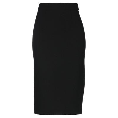 パロッシュ P.A.R.O.S.H. 7分丈スカート ブラック S ウール 93% / ナイロン 5% / ポリウレタン 2% 7分丈スカート