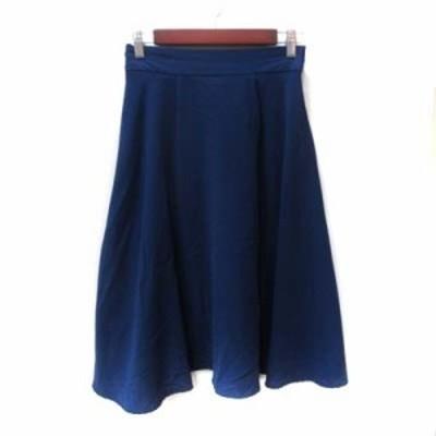 【中古】ローリーズファーム LOWRYS FARM フレアスカート ミモレ ロング F 青 ブルー /YI レディース