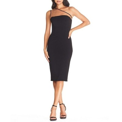 ドレスザポプレーション レディース ワンピース トップス Rayna Illusion One Shoulder Midi Crepe Sheath Dress