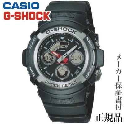 CASIO カシオ G-SHOCK BASIC ANALOG Series 男性用 クオーツ アナデジ 腕時計 正規品 1年保証書付 AW-590-1AJF