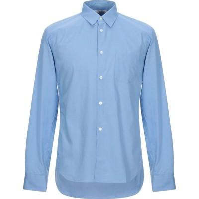 コム デ ギャルソン COMME des GARCONS SHIRT メンズ シャツ トップス solid color shirt Azure