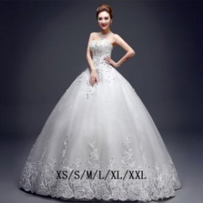 花嫁ドレス ウエディングドレス 二次会 レース お揃いドレス きれいめ ロング丈 ホワイト レース 披露宴 女性 きれいめ 結婚式
