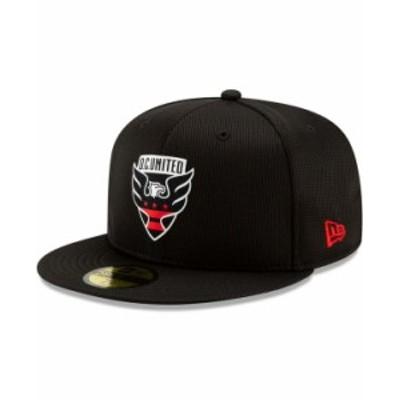 ニューエラ メンズ 帽子 アクセサリー Men's D.C. United On-Field 59FIFTY Fitted Hat Black