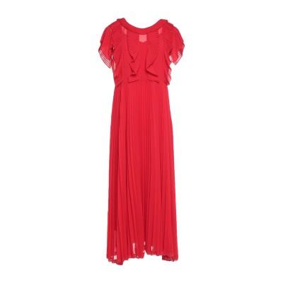 ツインセット シモーナ バルビエリ TWINSET ロングワンピース&ドレス レッド 42 ポリエステル 100% ロングワンピース&ドレス