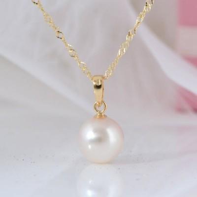 18金 アコヤ真珠 パール シンプル ネックレス 誕生日  ジュエリー アクセサリー  プレゼント