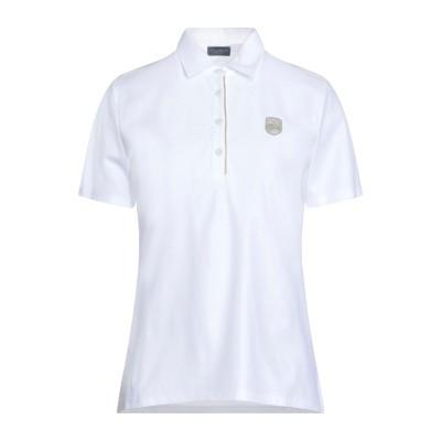 ポール・アンド・シャーク PAUL & SHARK ポロシャツ ホワイト L コットン 100% ポロシャツ