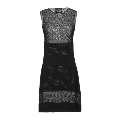 BOUTIQUE MOSCHINO ミニワンピース&ドレス ブラック 40 レーヨン 65% / ナイロン 35% ミニワンピース&ドレス
