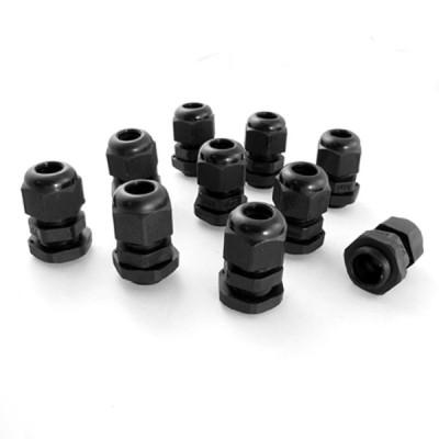 uxcell 10PG11 ブラックプラスチック製防水ケーブルグランドジョイント